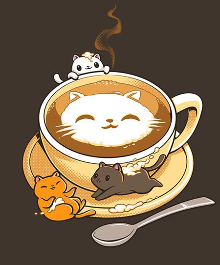 Qwertee: Latte Cat
