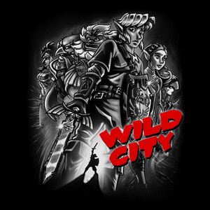 Pop-Up Tee: Zelda Wild City B&W