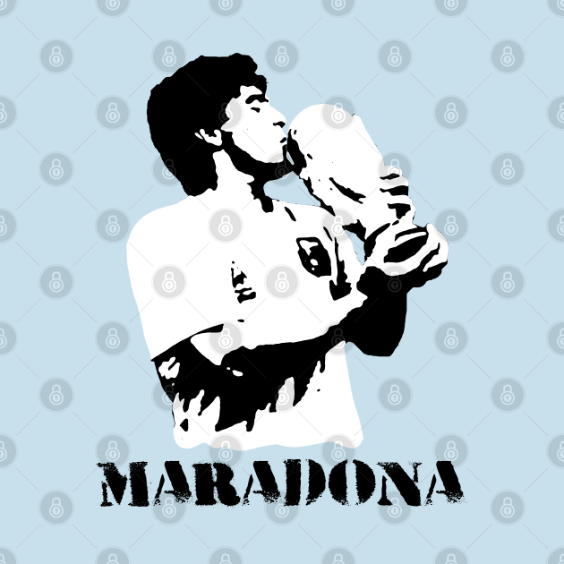 TeePublic: Maradona with the world champion cup
