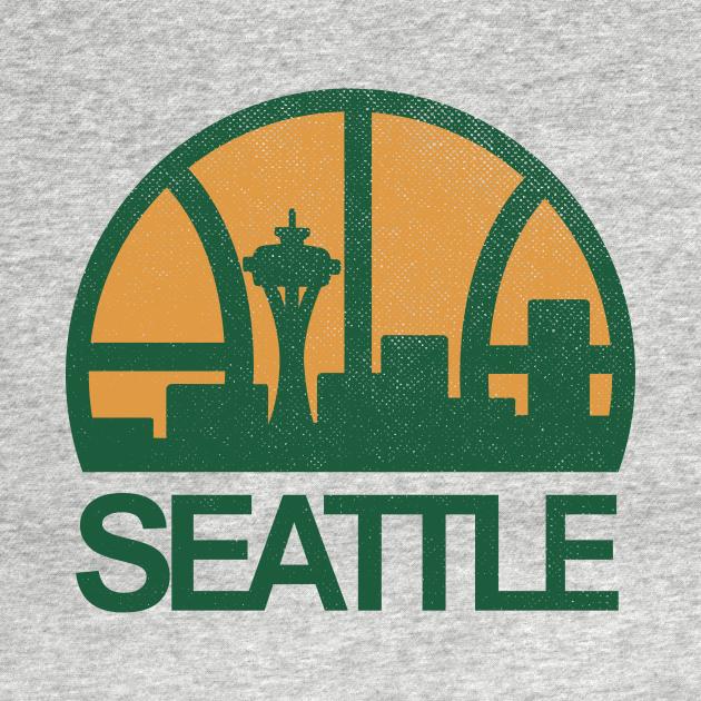 TeePublic: DEFUNCT - Seattle Supersonics Skyline