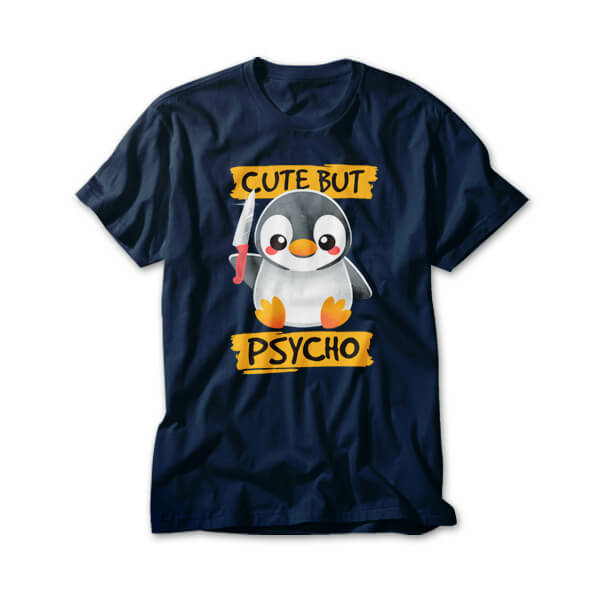 OtherTees: Cute but psycho penguin
