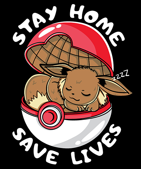 Qwertee: stay home mon