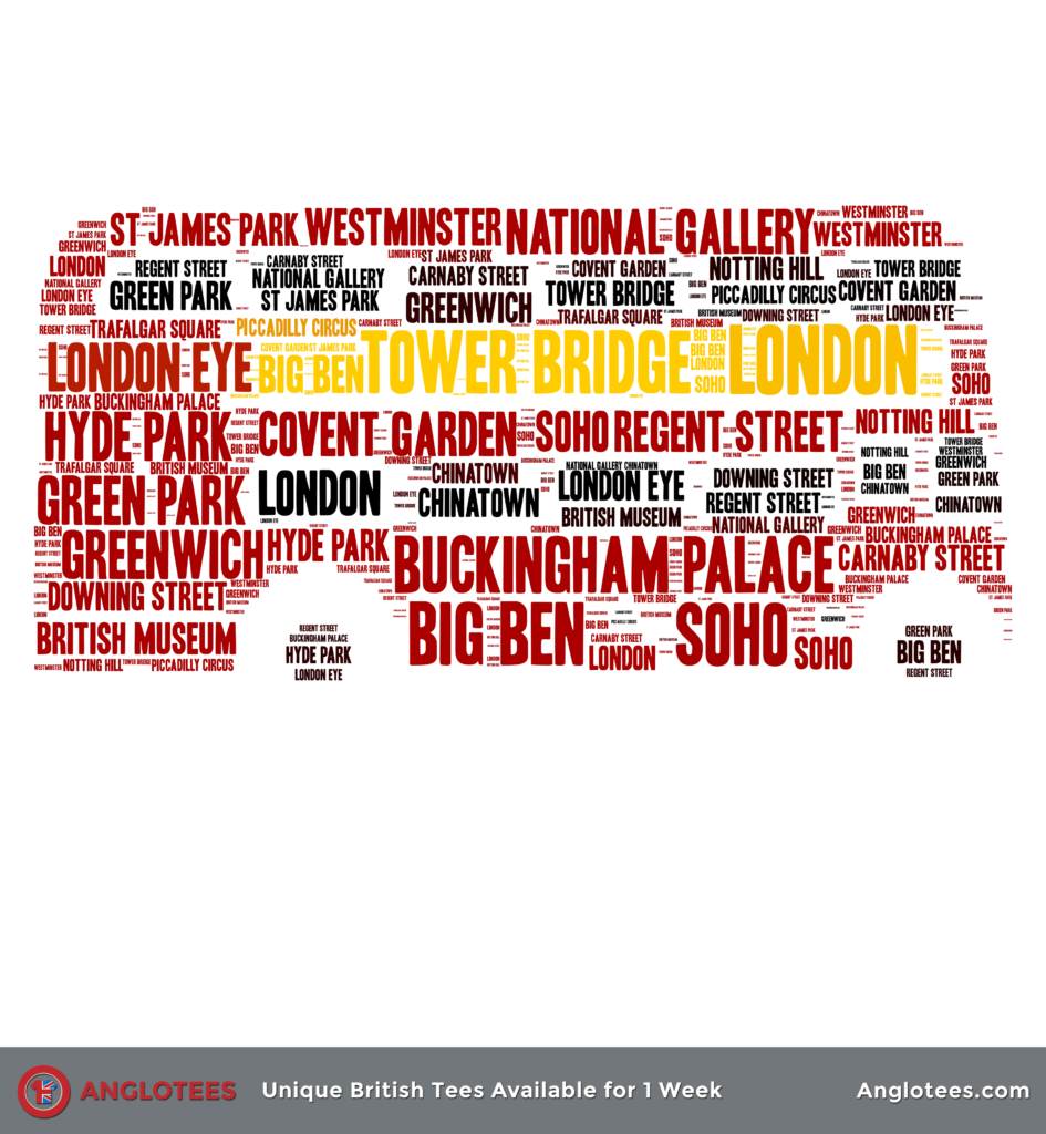 Anglotees: Red London Bus Tribute