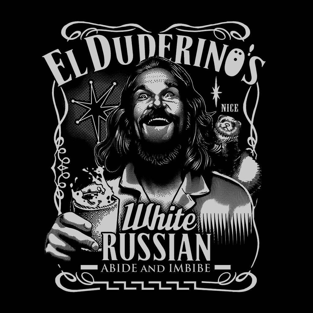 Pop-Up Tee: El Duderino's White Russian