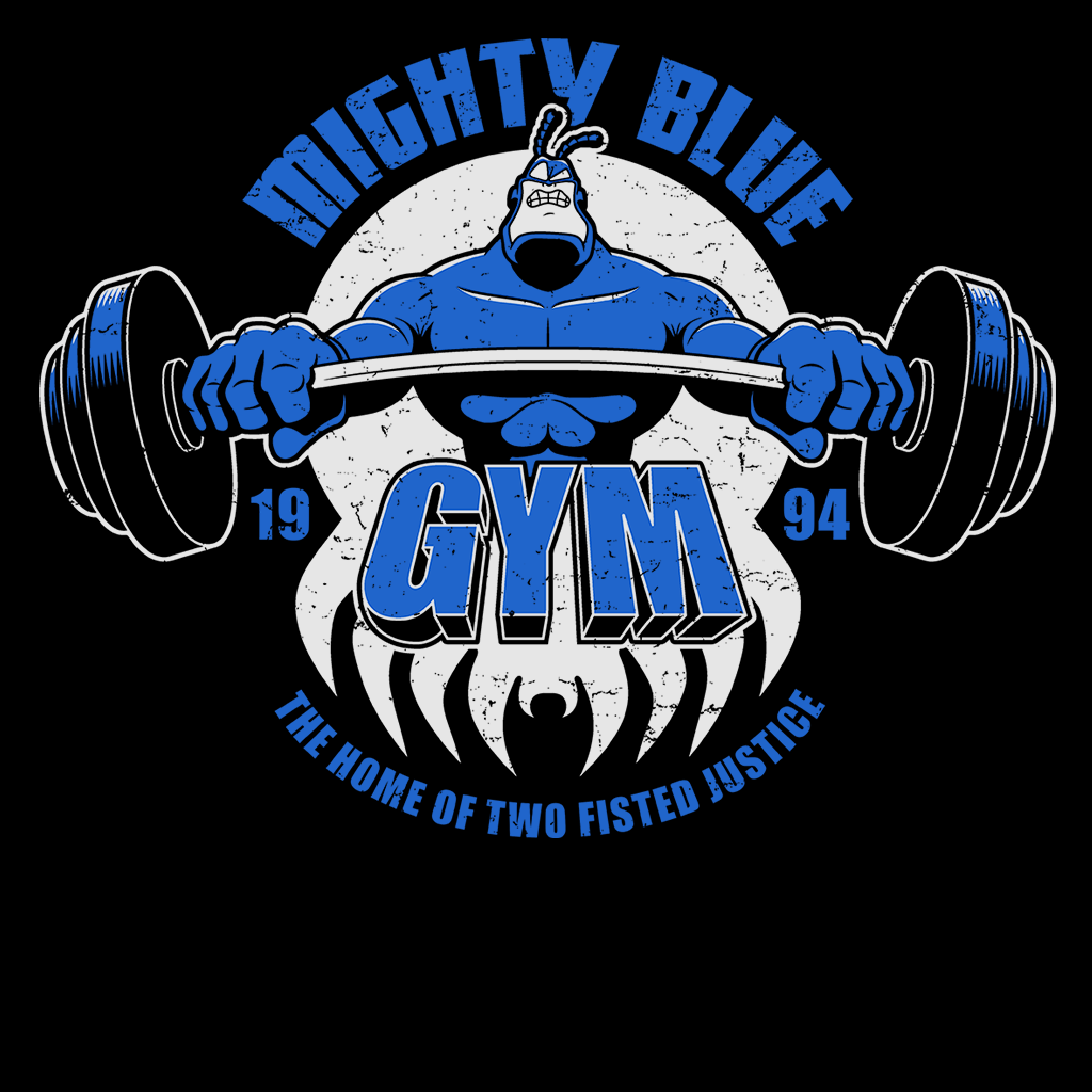Pop-Up Tee: Mighty Blue Gym