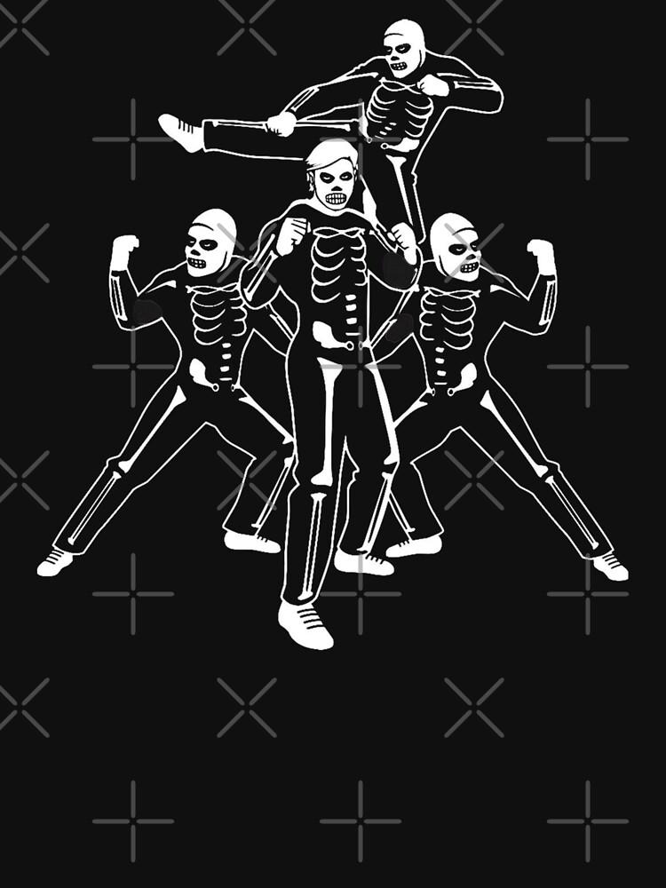 RedBubble: Johnny Lawrence Cobra Kai Halloween Skeleton Costumes T Shirt - Karate Kid Tee