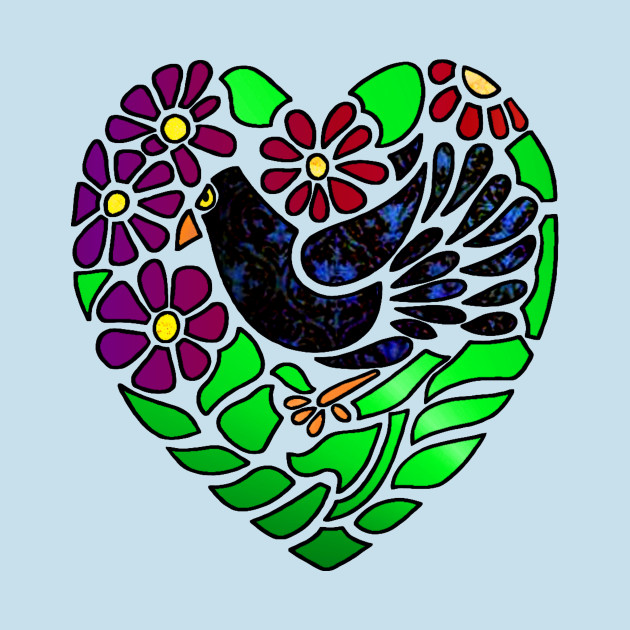 TeePublic: Gothic Bird in Heart