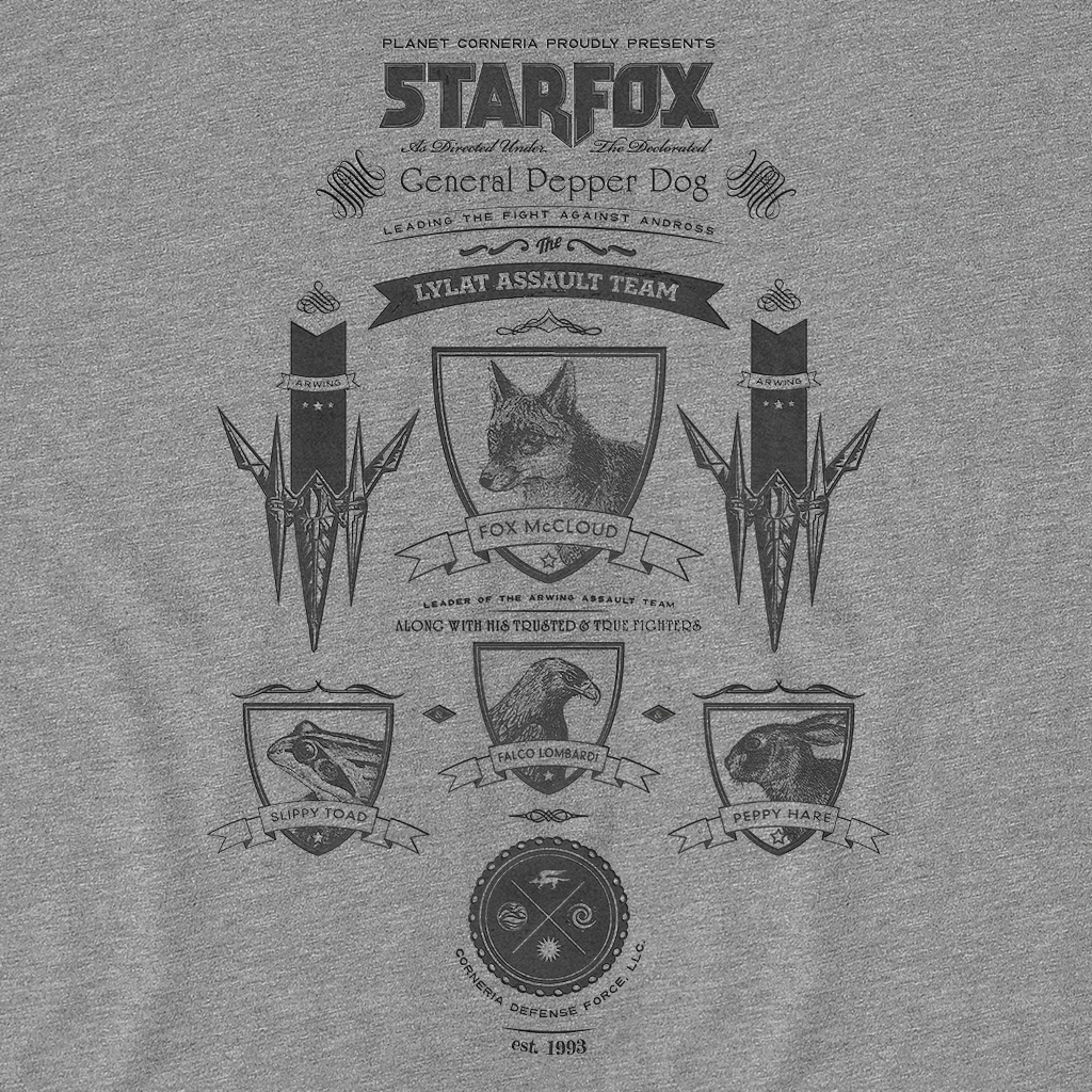 Pop-Up Tee: Vintage StarFox