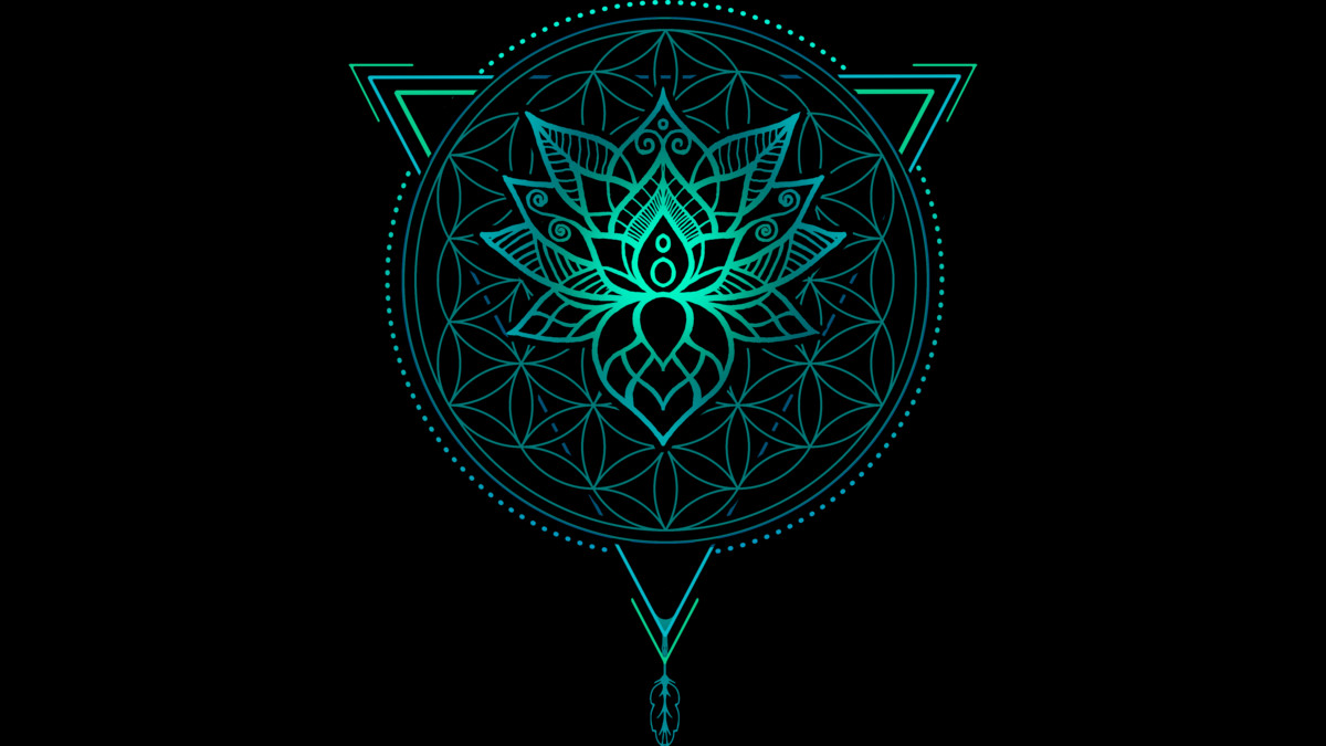 Design by Humans: Lotus Flower of Life Mandala in Geometric Triangle
