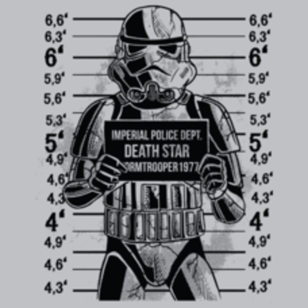 Textual Tees: Trooper Mugshot