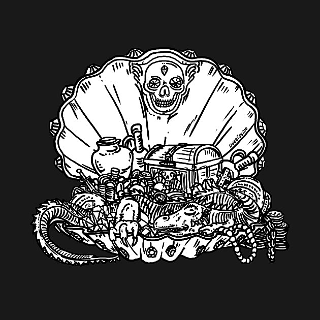 TeePublic: Treasure Shell - Inktober 19-21