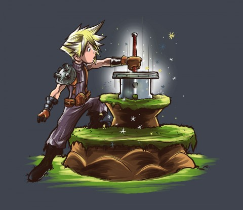 TeeFury: The Buster Sword in the Stone