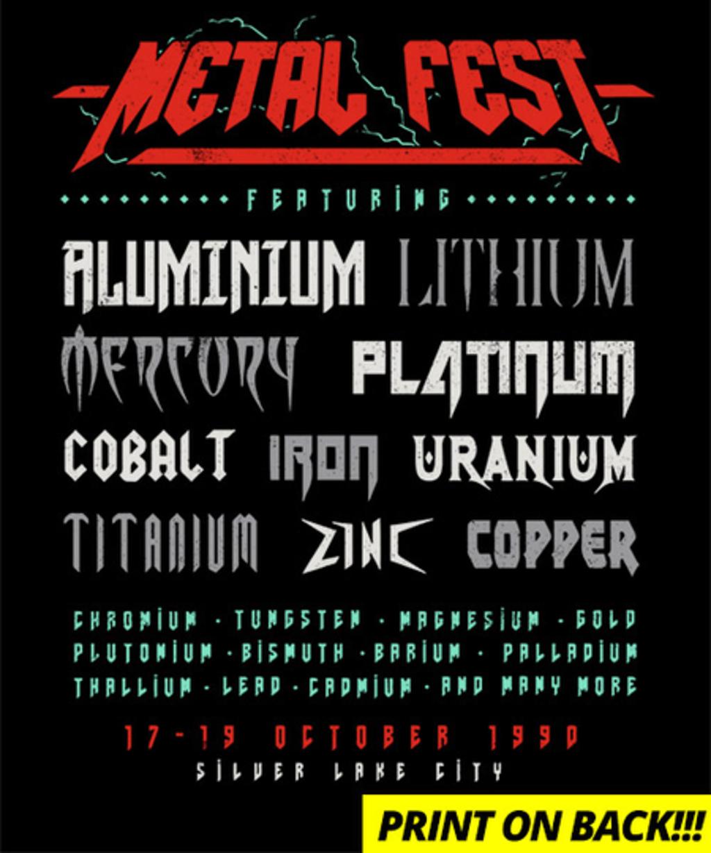 Qwertee: Metal Fest