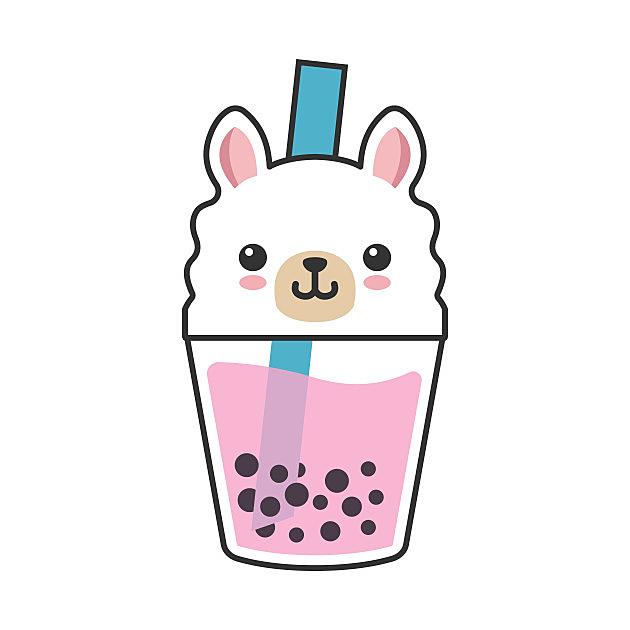 TeePublic: Boba Llama Kawaii Bubble Tea Boba Milk