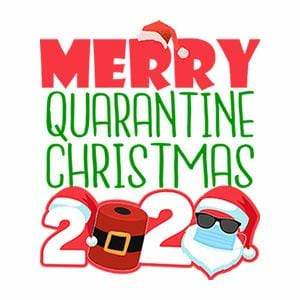 BustedTees: Merry Quarantine Christmas 2020 Raglan
