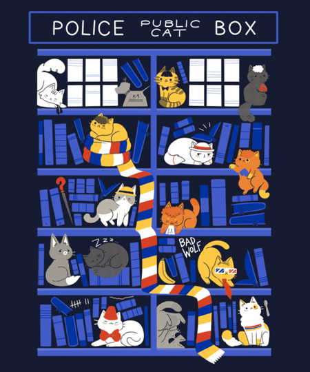 Qwertee: Library Box Who
