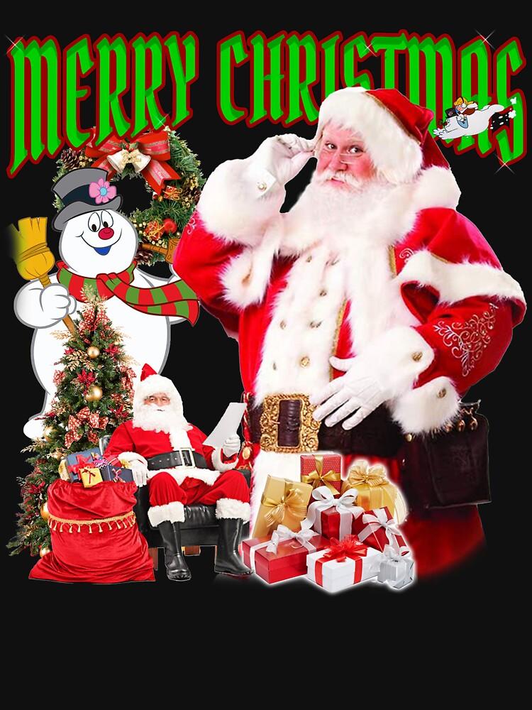 RedBubble: Santa Merry Christmas 90s bootleg