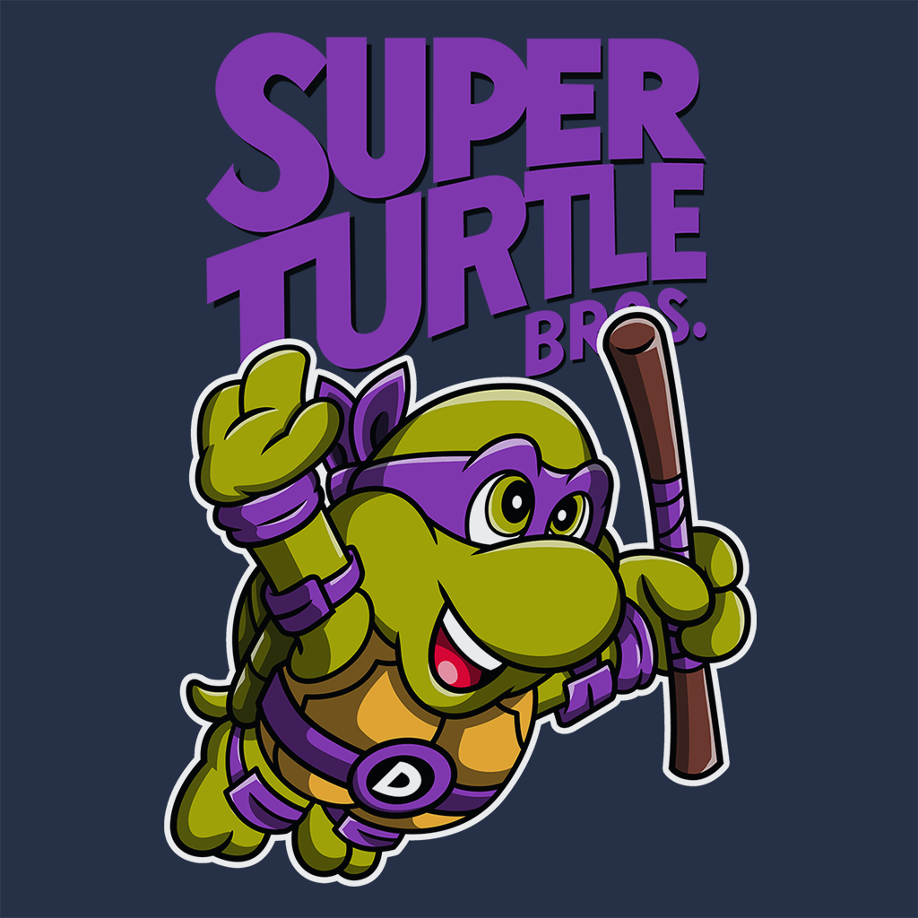 Pop-Up Tee: Super Turtle Bros Donnie
