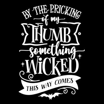 BustedTees: By The Pricking Of My Thumb Kids Shirt