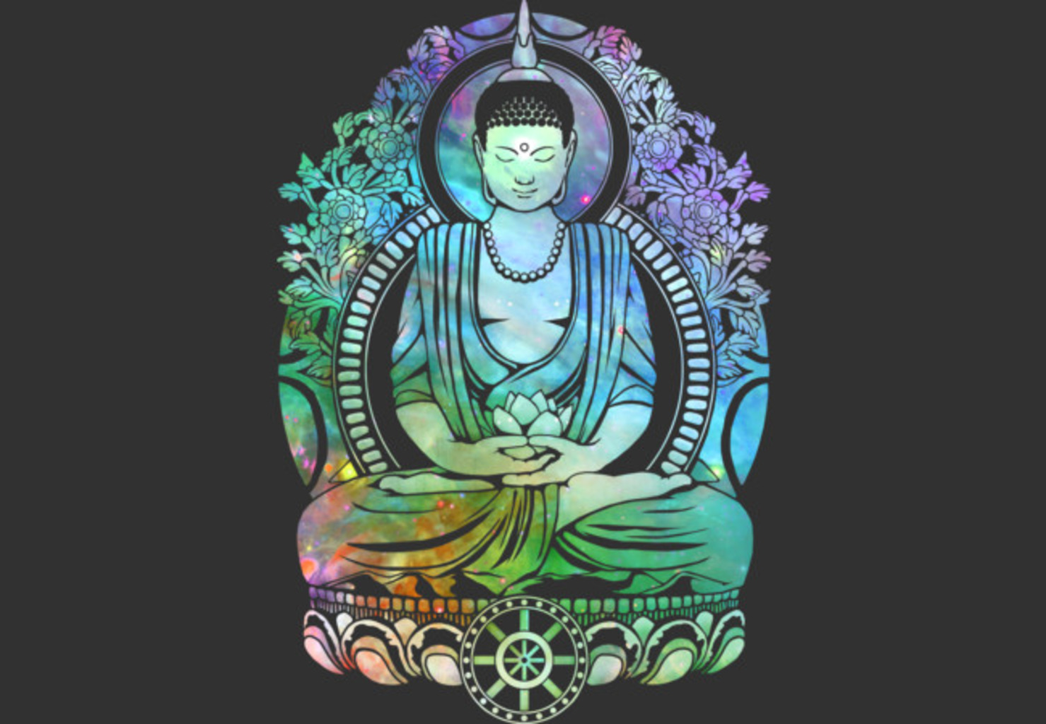 Design by Humans: Cosmic Buddha Spectrum