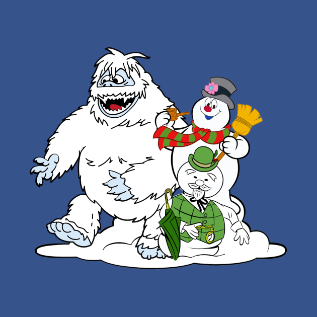 TeePublic: Frosty, Bumble and Sam - the Snowmen!