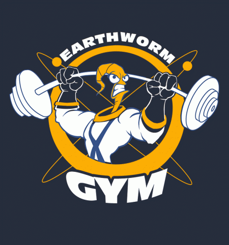 BustedTees: Earthworm Gym