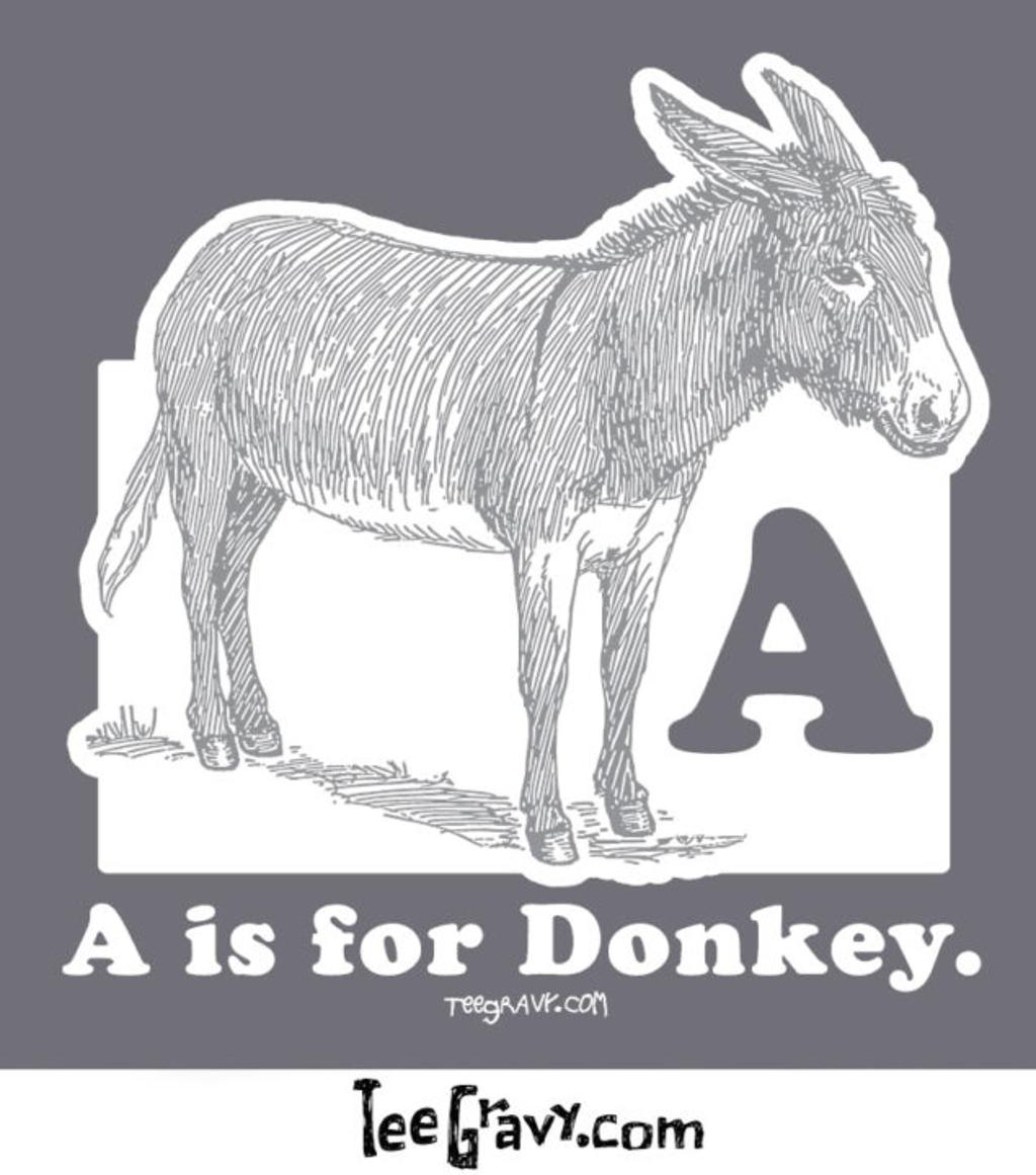 Tee Gravy: D is for Donkey Seven Days of Gravy Day 2