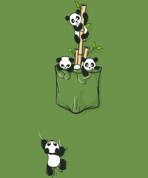 Qwertee: Pocket Pandas