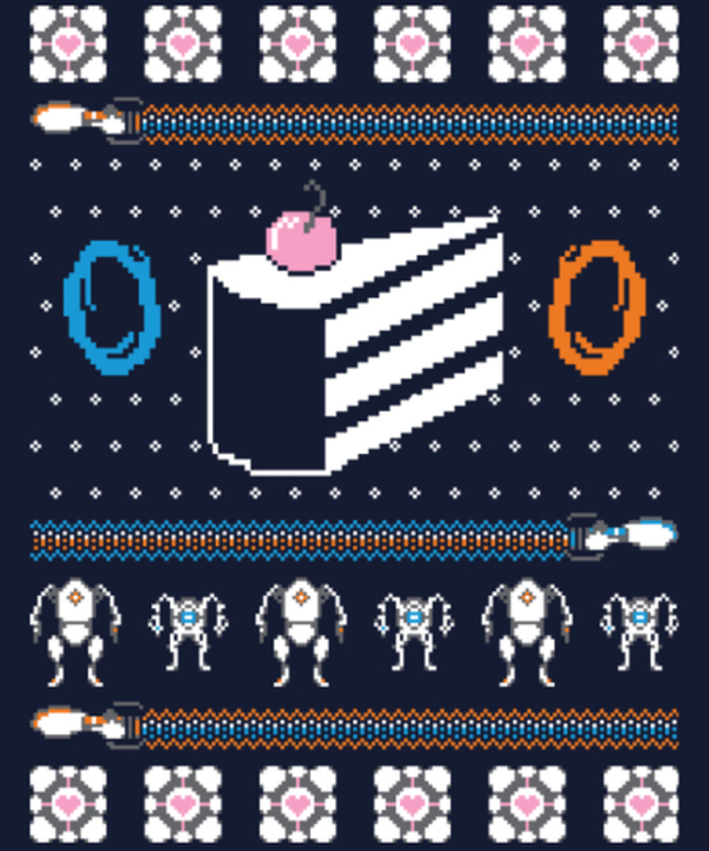 Qwertee: The Christmas Cake Is A Lie