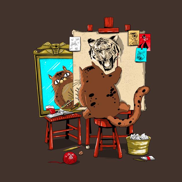 TeePublic: Triple Cat Self Portrait
