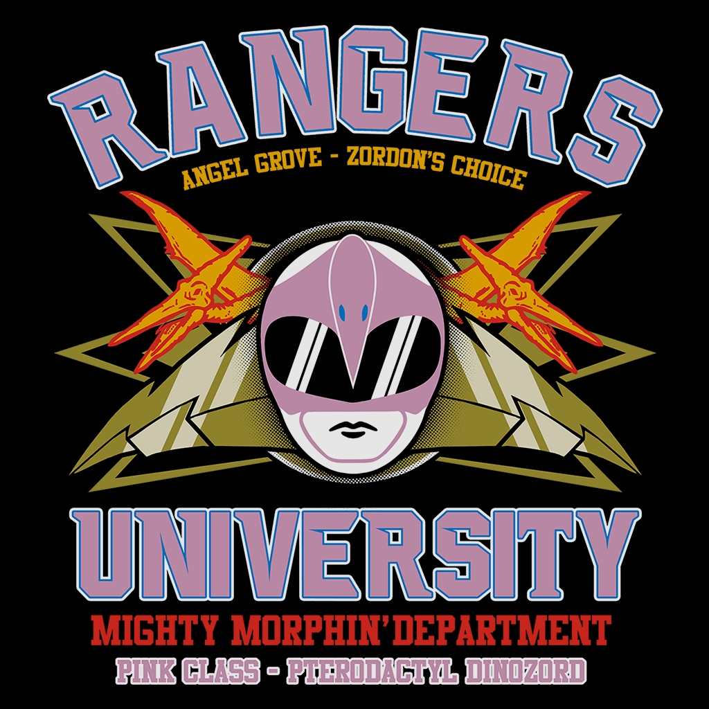 Pop-Up Tee: Rangers U Pink