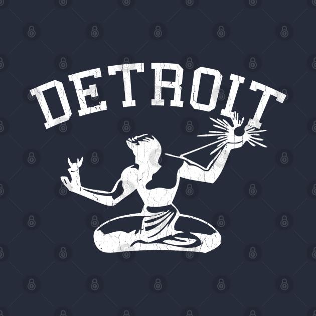 TeePublic: Spirit Of Detroit (vintage distressed look)