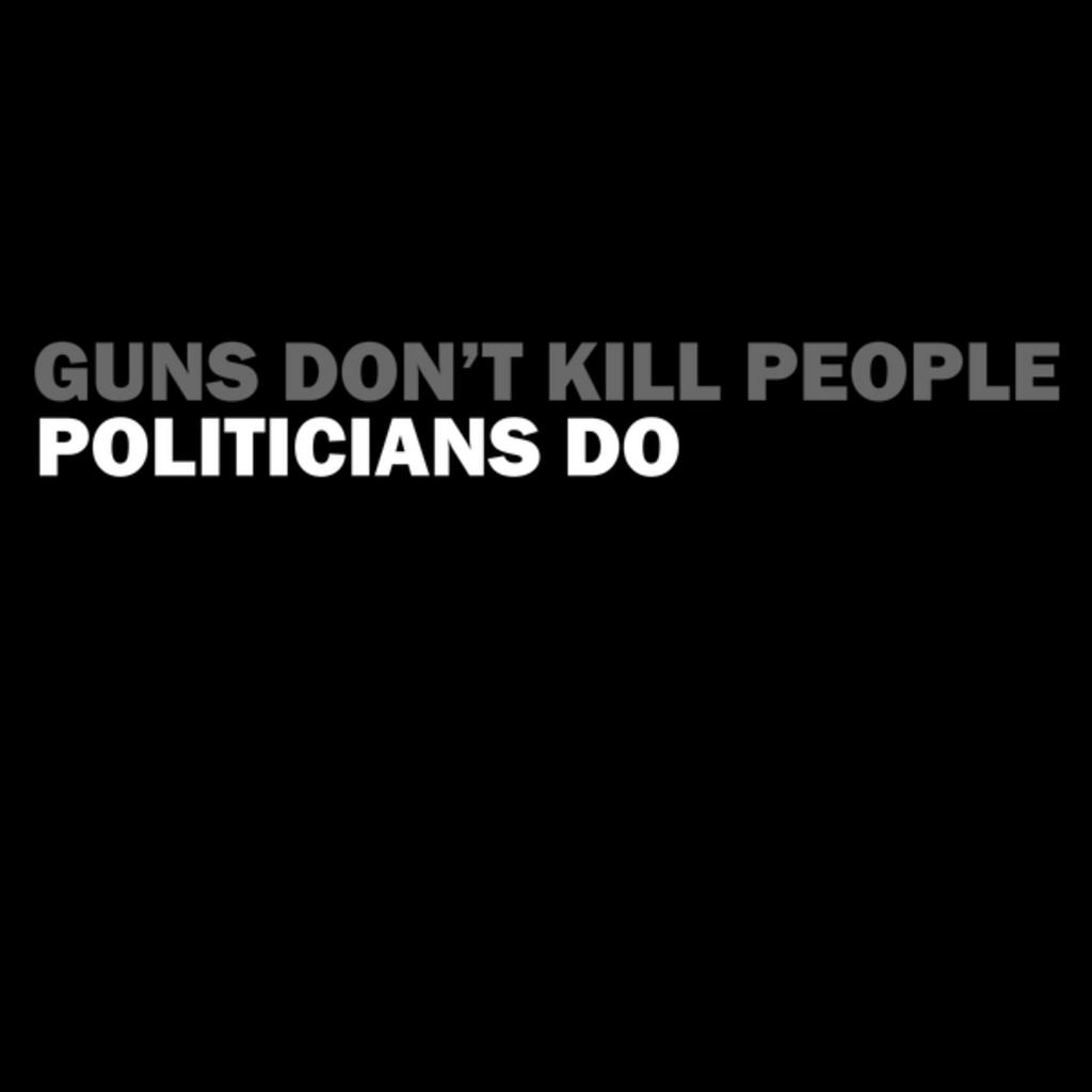 NeatoShop: Guns Don't Kill People, Politicians Do
