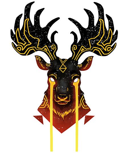 Qwertee: Golden Tears Deer