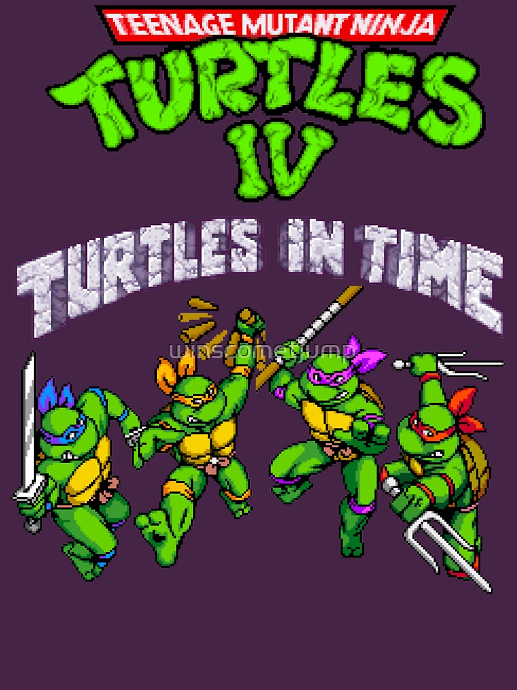 RedBubble: TMNT Turtles In Time (SNES)