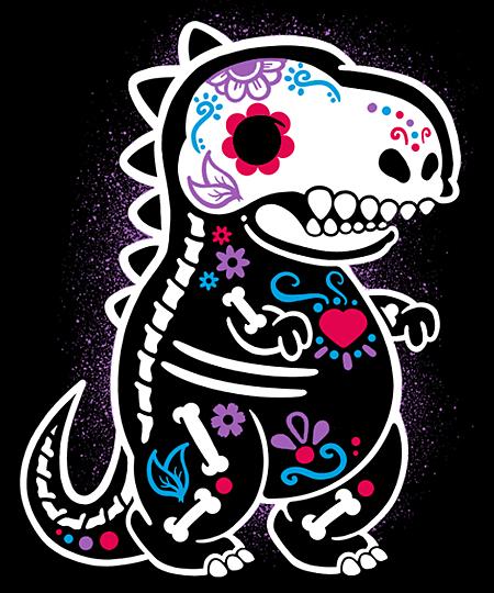 Qwertee: Skeleton t-rex