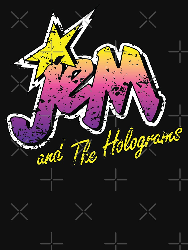RedBubble: Jem and the Holograms Band Cartoon Misfits Distressed 80s Party Mask