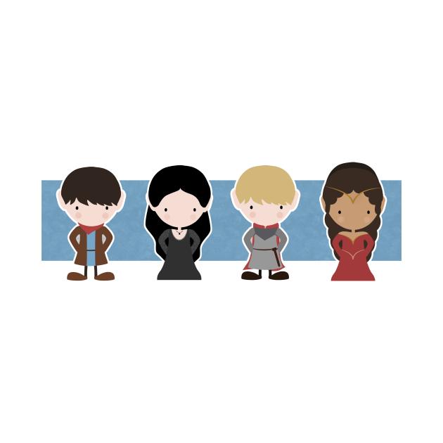 TeePublic: Merlin, Morgana, Arthur, Guinevere, Chibi Merlin