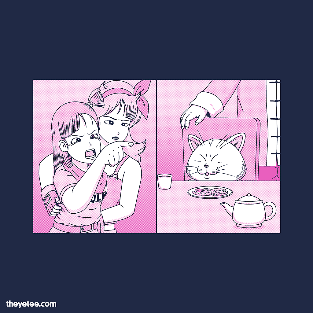 The Yetee: Girl Pointing at Cat