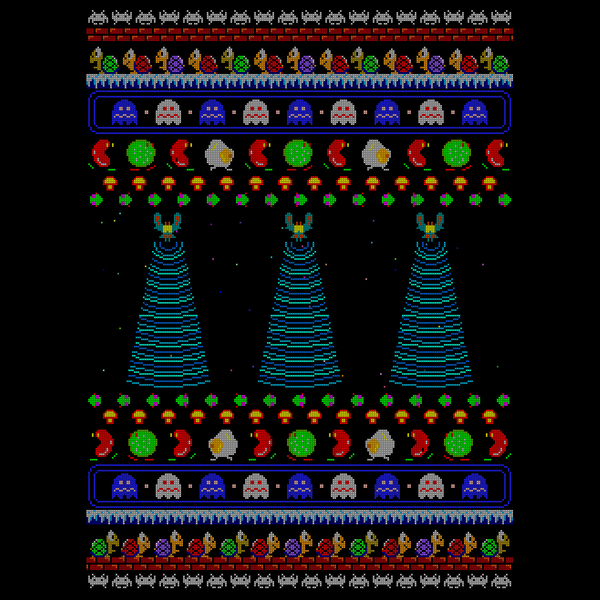 NeatoShop: Arcade Enemies Christmas Sweater
