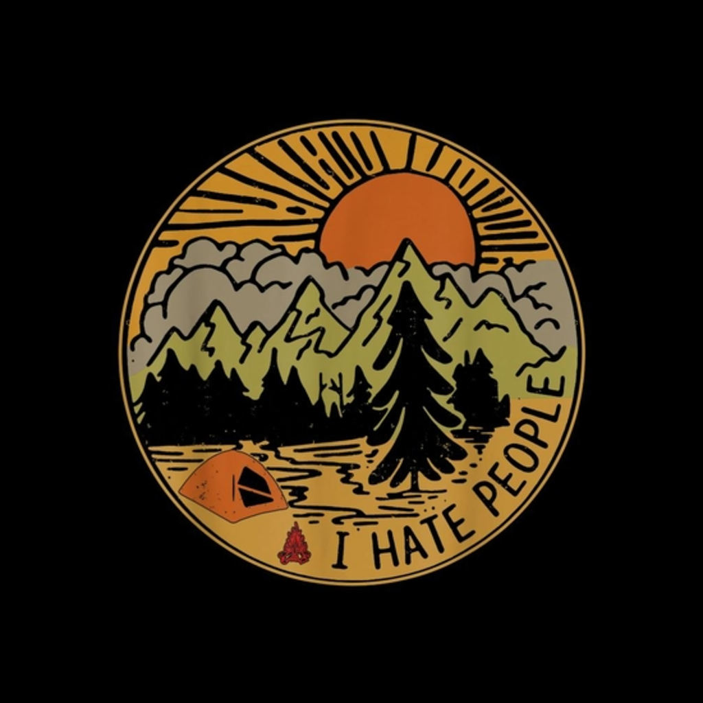 BustedTees: Love Camping I Hate People