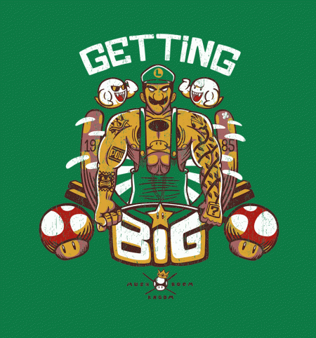 BustedTees: Luigi's Gym