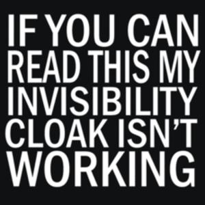 Textual Tees: Invisibility Cloak