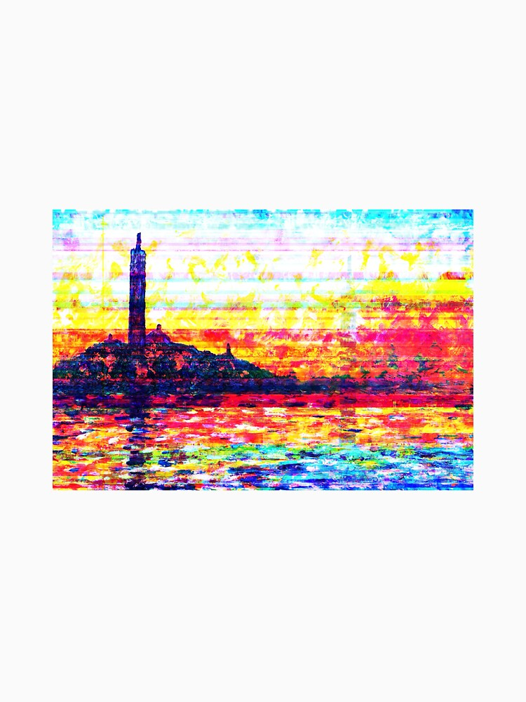 RedBubble: Claude Monet Glitched