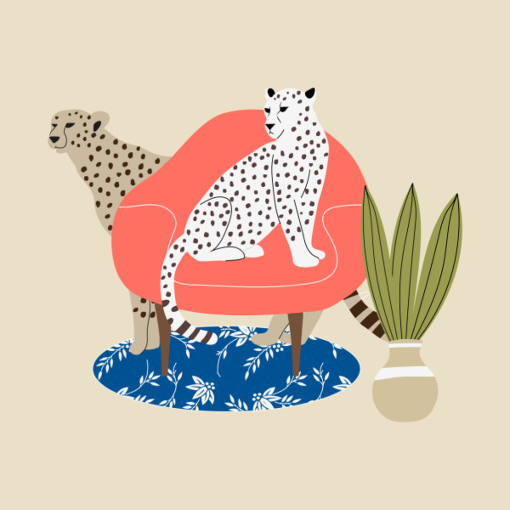 TeePublic: Leopards and armchair