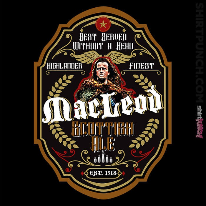 ShirtPunch: Connor MacLeod Ale