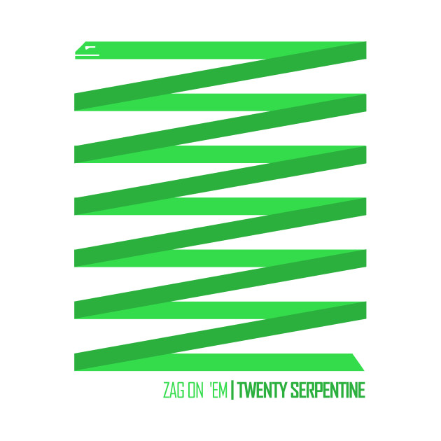 TeePublic: Twenty Serpentine T-Shirt