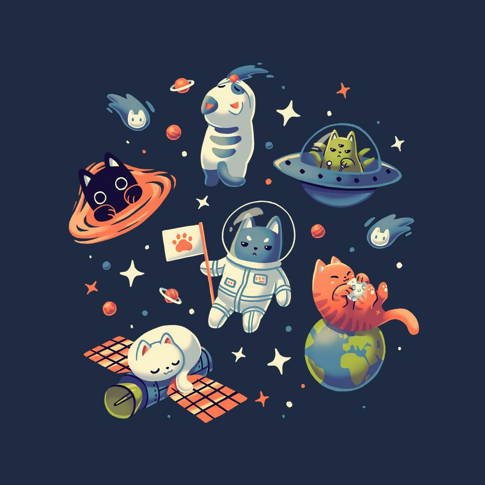 TeeFury: Cats in Space