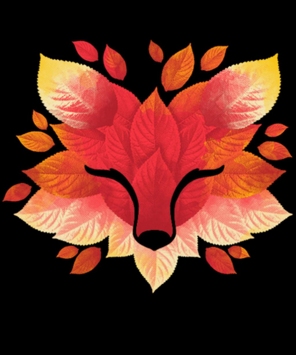 Qwertee: Fox of leaves