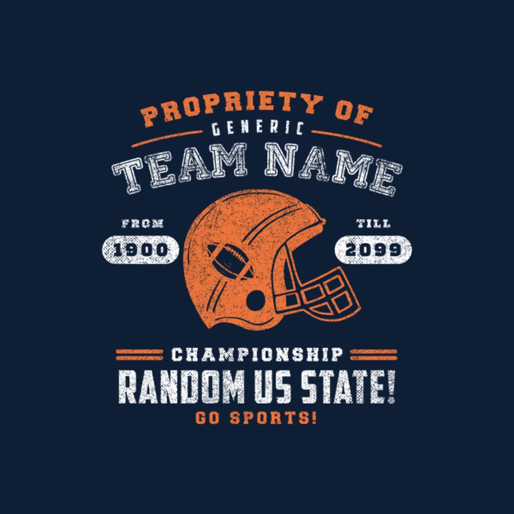 NeatoShop: Generic Football T-Shirt